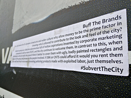 Buff the Brands – 50 billboards altered (Bristol, UK)