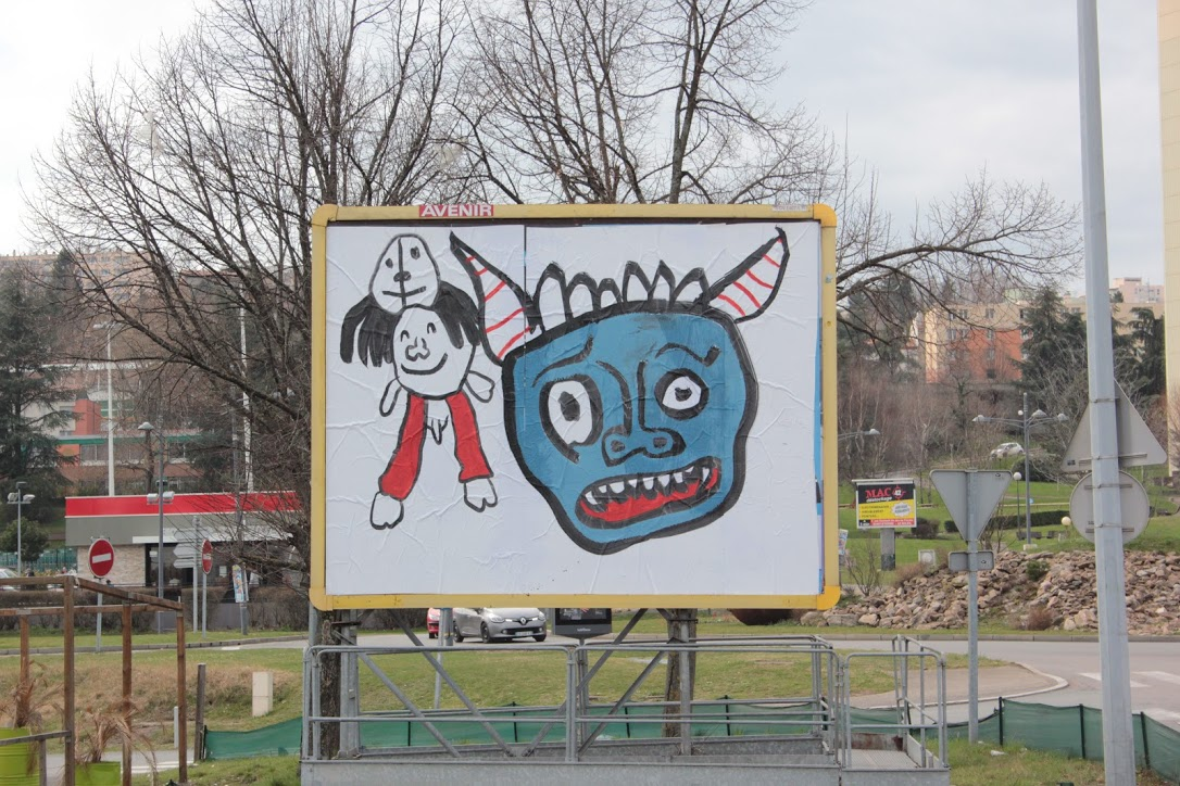 Ella & Pitr: We all want to say the same thing through reappropriation of advertising spaces (Saint Etienne, France)