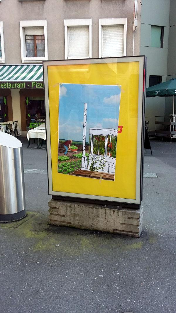 Des espaces publicitaires détournés à Lausanne (Lausanne, Suisse)
