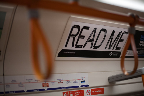 London Underground: Ad Hack Manifesto on the Tube